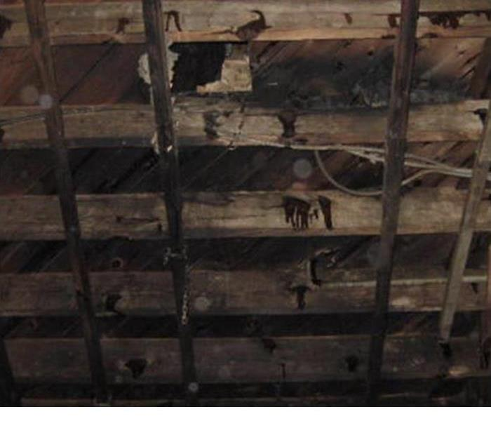 Fire Damage In Rafters